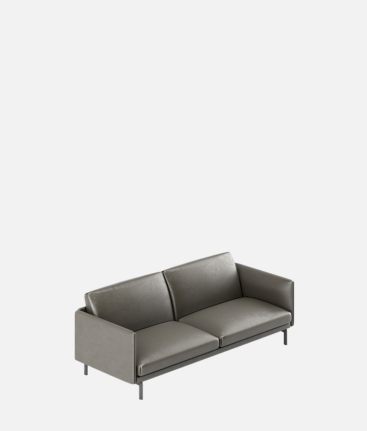 Aulenti Leather Sofa M